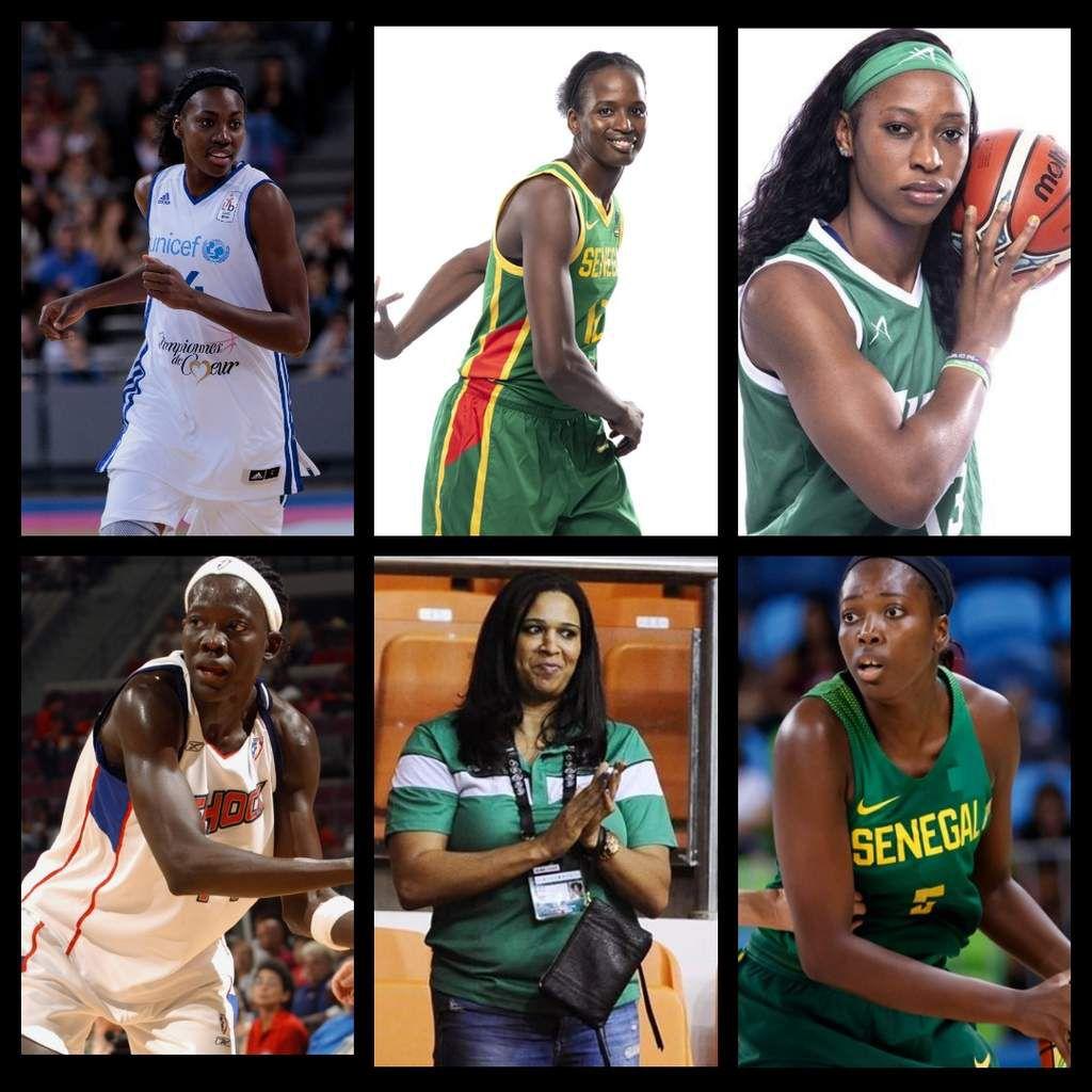 Djené Diawara, Mame Marie Sy-Diop,  Evelyn Akhator, Astou Ndiaye, Mfon Udoka et Astou Traoré