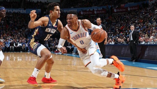 Russell Westbrook mène Oklahoma City face aux Pelicans