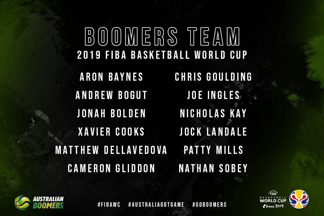 L'Australie dévoile sa liste définitive pour la Coupe du monde FIBA 2019