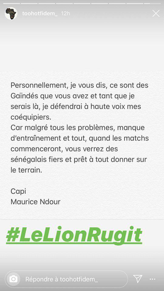 Maurice Ndour dit ses quatre vérités sur les mauvaises conditions de préparation des Lions du Sénégal