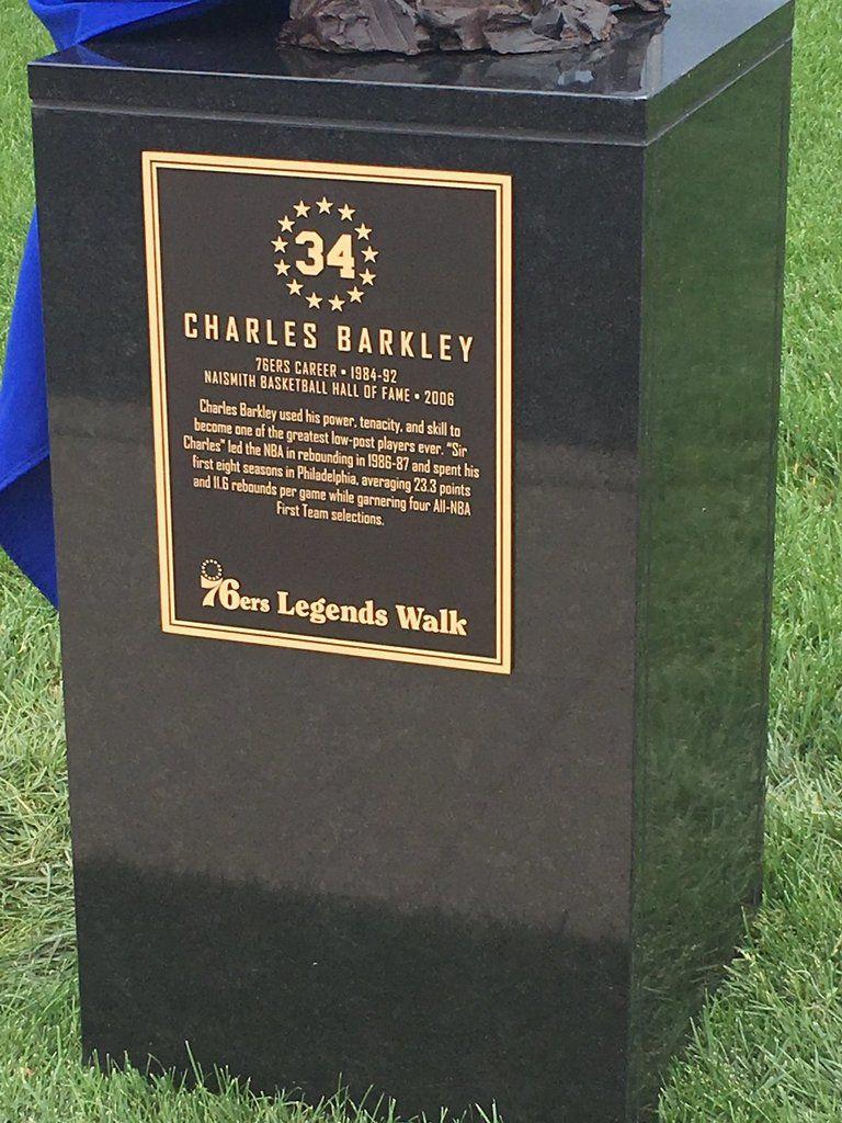 La statue de Charles Barkley dévoilée à Philadelphie