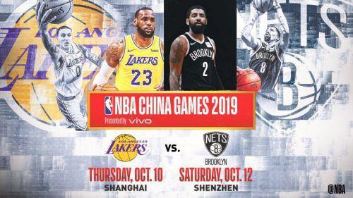 Le match Lakers-Nets à Shanghai maintenu malgré la crise entre la NBA et la Chine