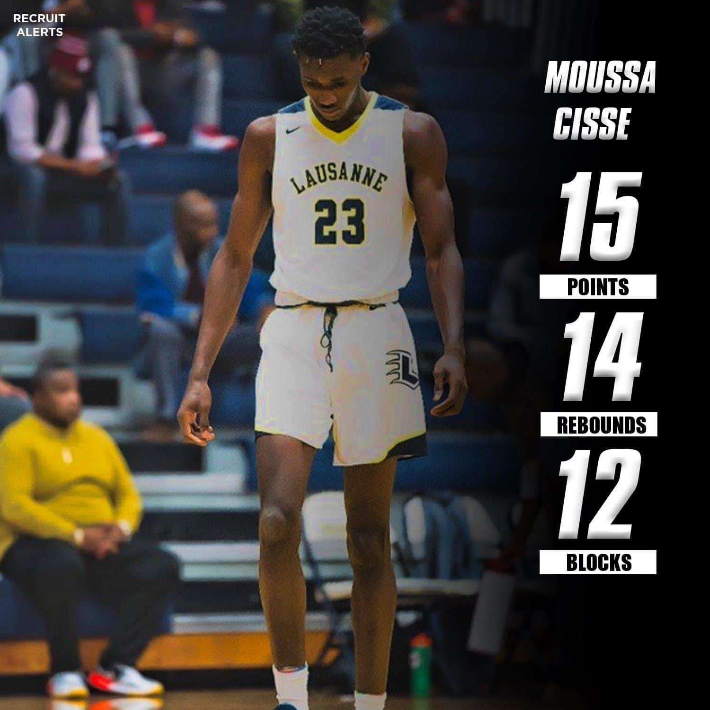 High School : Moussa Cisse signe un nouveau triple-double : 15 points, 14 rebonds et 12 blocs