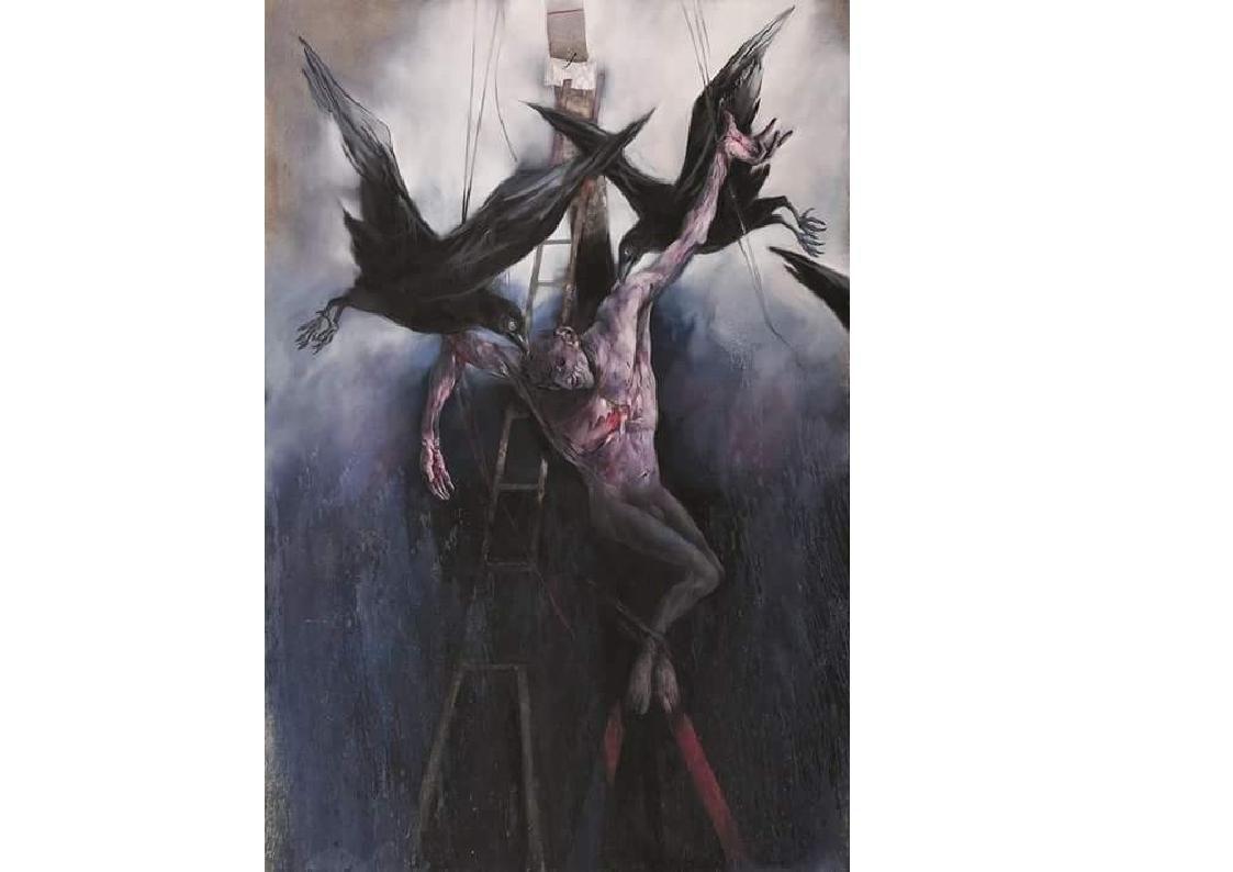 Crucifixion, 2011, huile sur toile, 325 x 225 cm