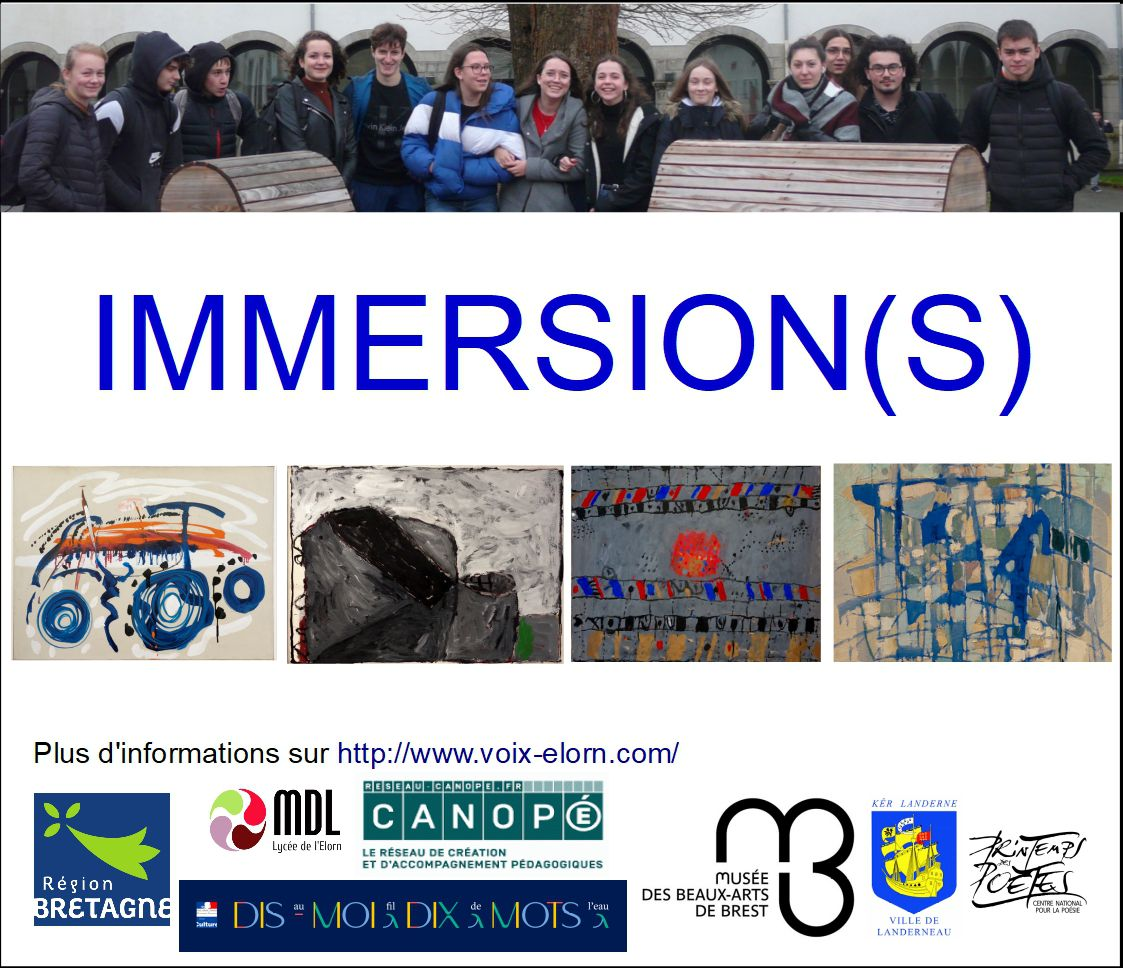 Journal du projet Immersion(s) - Semaines 1 & 2