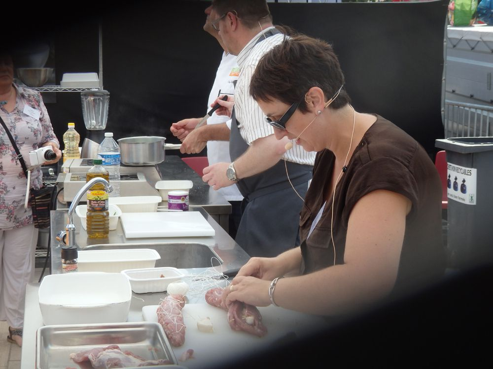 Christian (Ambiances culinaires) et Alexandra (My Girly Popotte) en demonstration