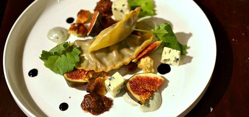3 - Ravioles à la Fourme d'Ambert et figues