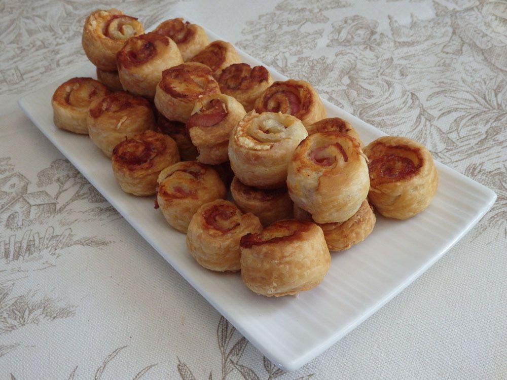 Petits choux feuilletés bacon & gruyère