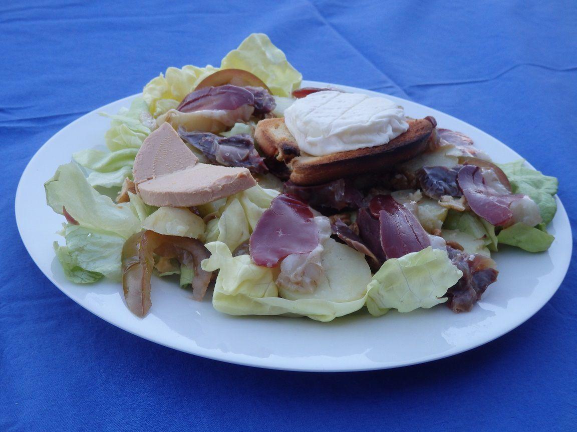 Salade quercynoise à ma façon