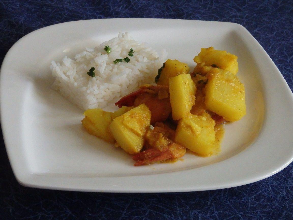 Recette autour d'un ingrédient # 21 – Colombo de crevettes ananas