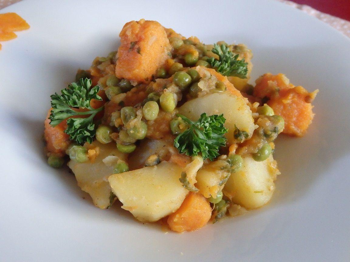 Tajine pommes de terre patate douce