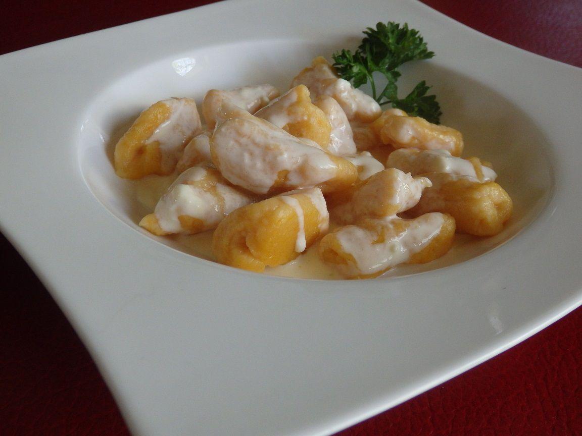 Gnocchi au butternut et crème de Saint Marcellin