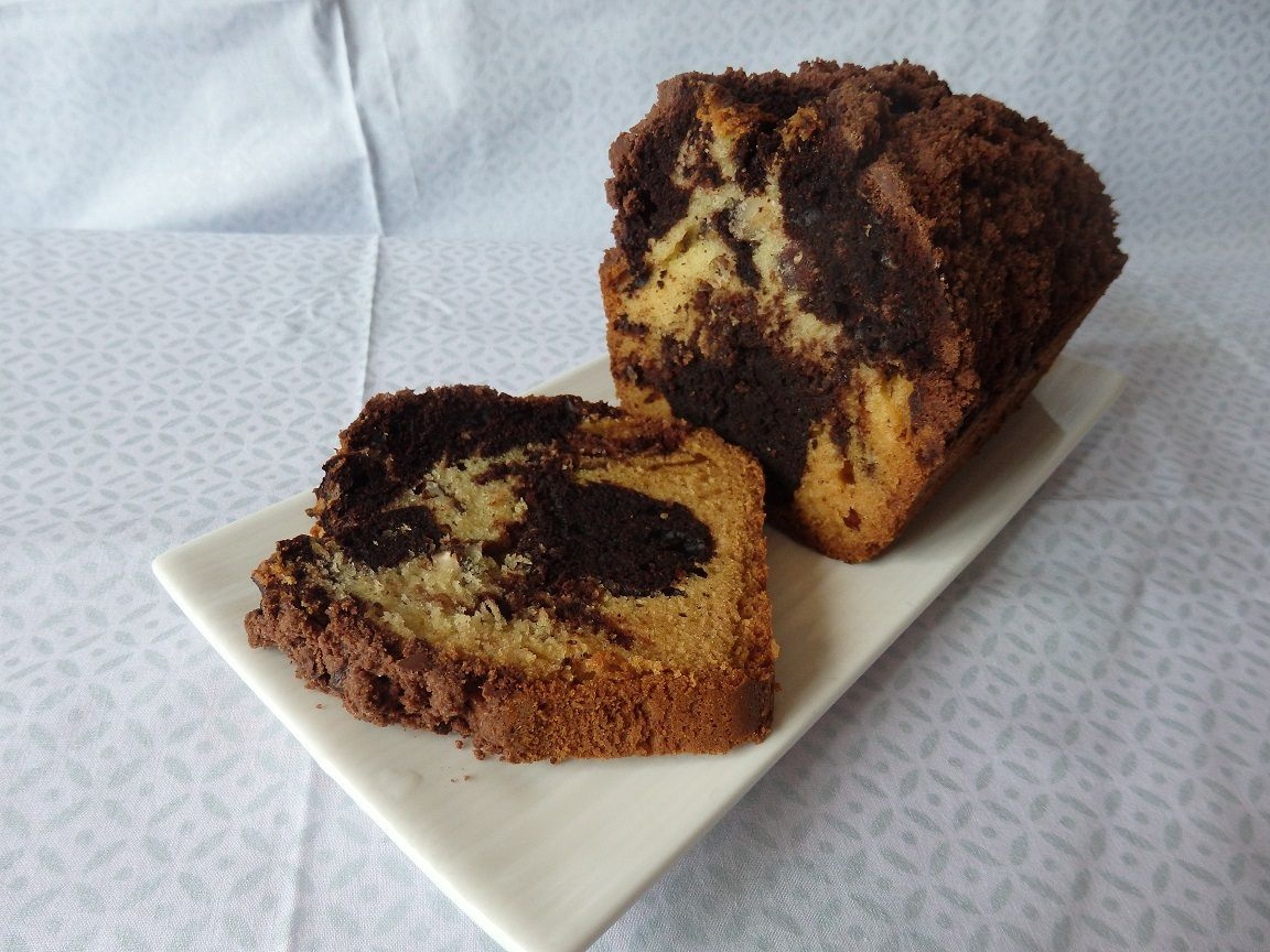 Double Crumble Cake marbré 3 x chocolat vanille