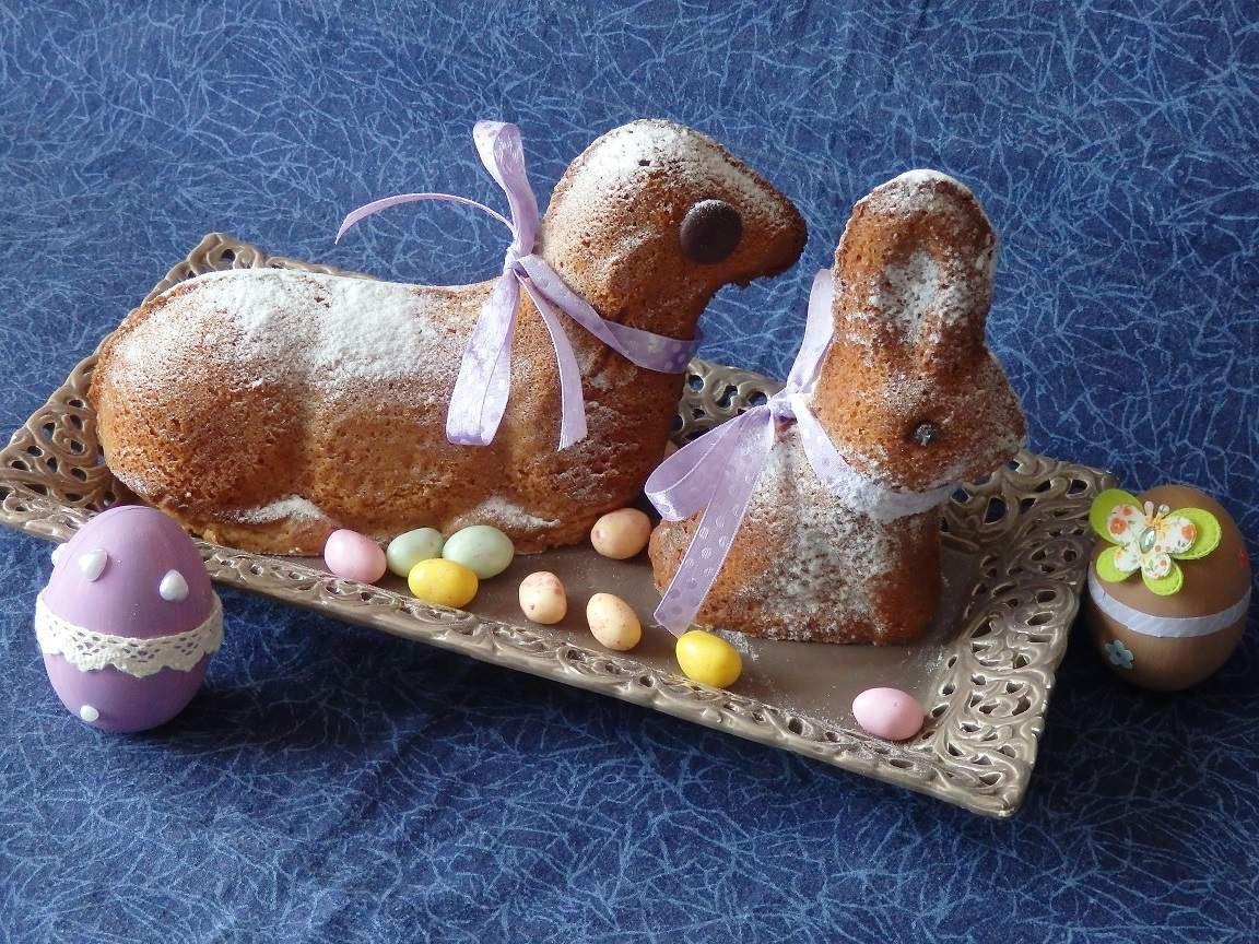 Agneau et lapin de Pâques