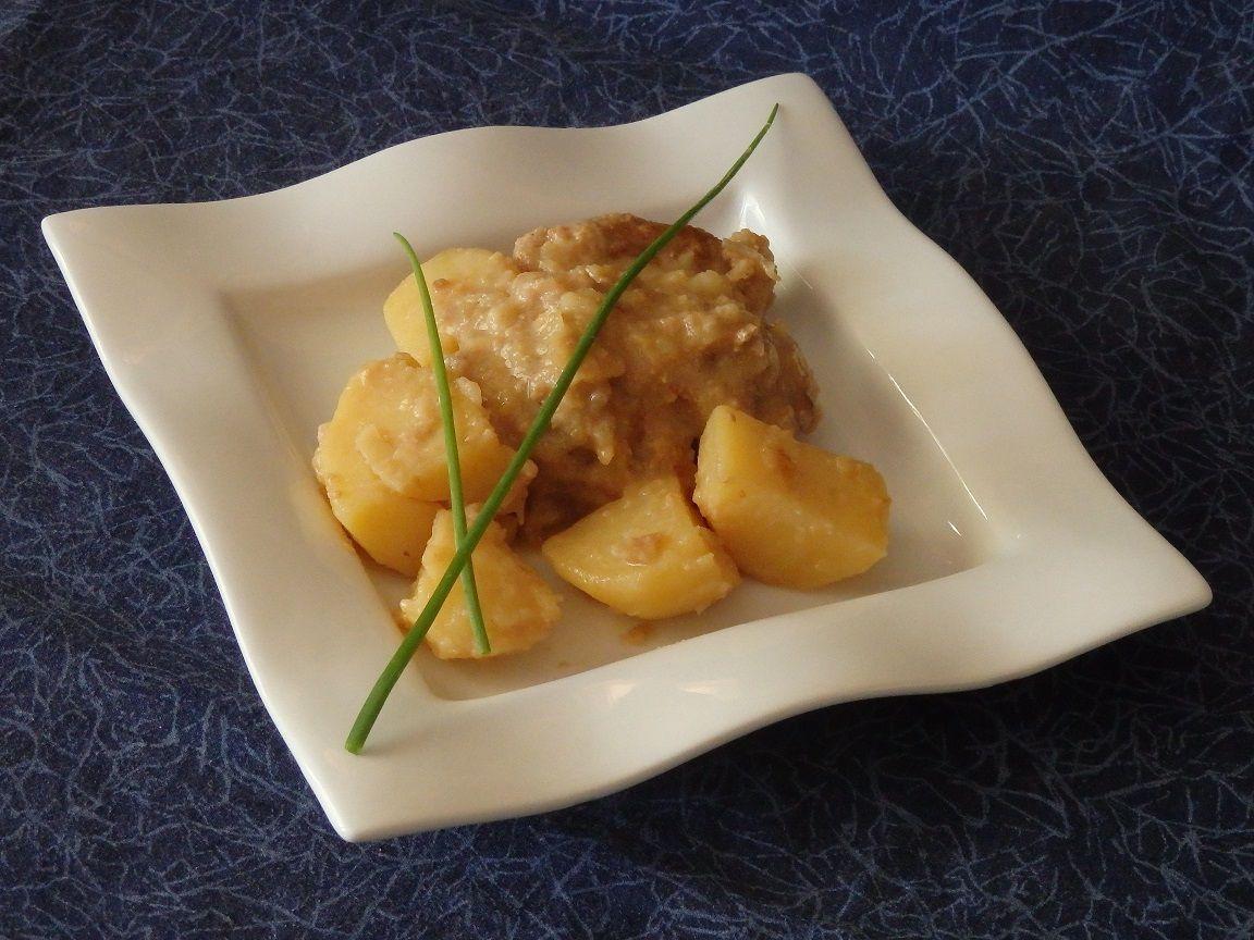 Filet mignon de porc au cidre sauce crémeuse au camembert
