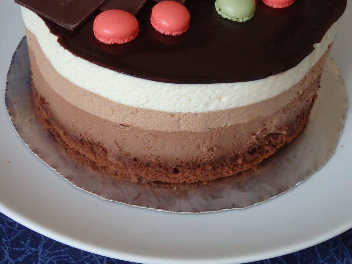 Entremets trois chocolats de Valrhona