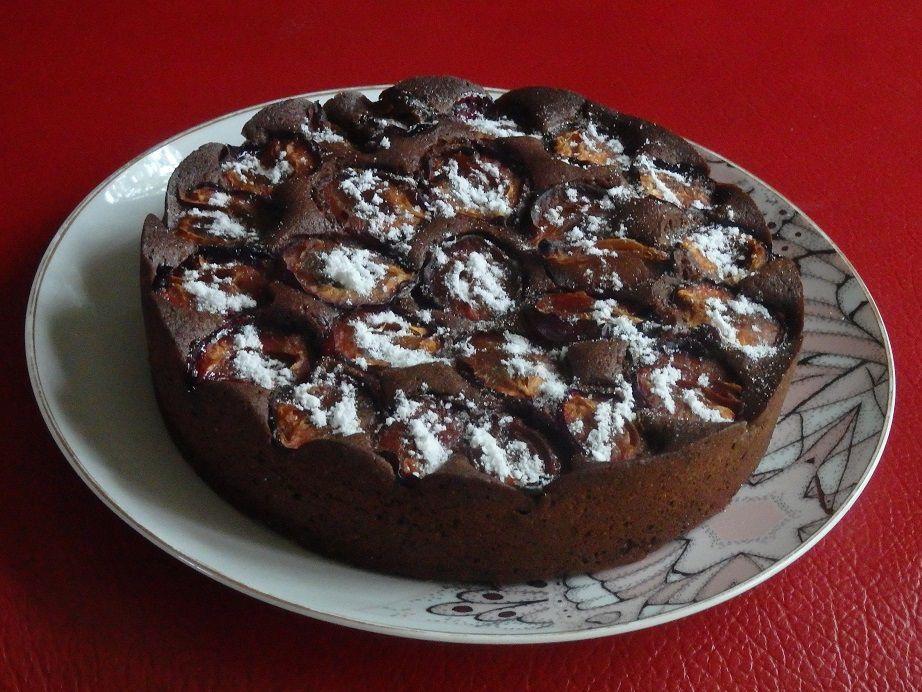 Gâteau au chocolat et aux quetsches