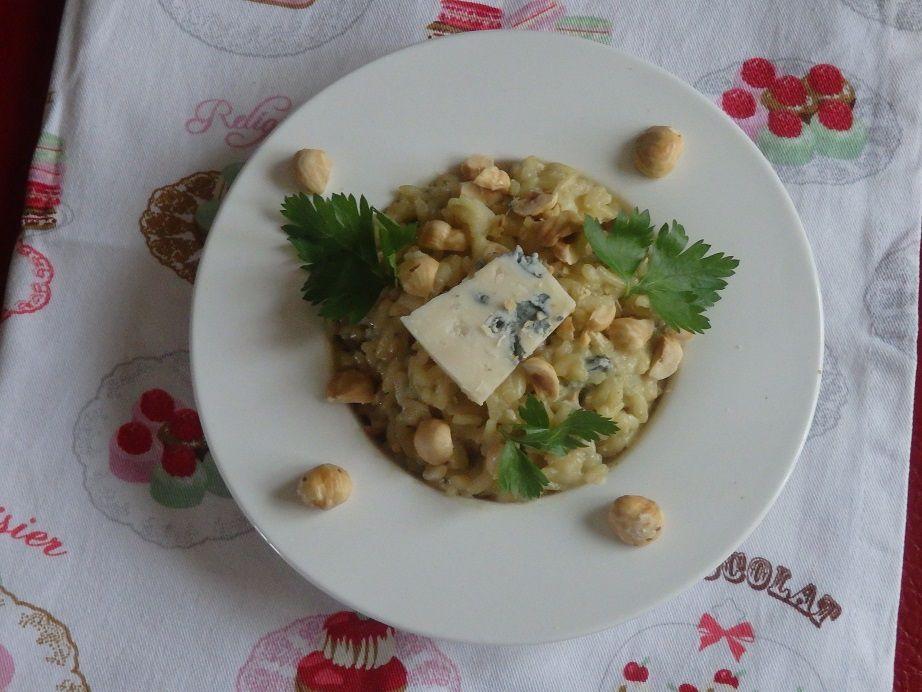 Risotto au gorgonzola et aux noisettes