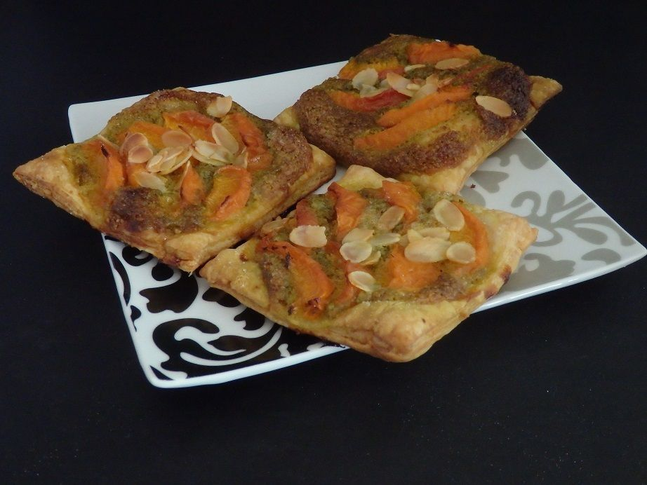 Carrés croustillants abricots pistache