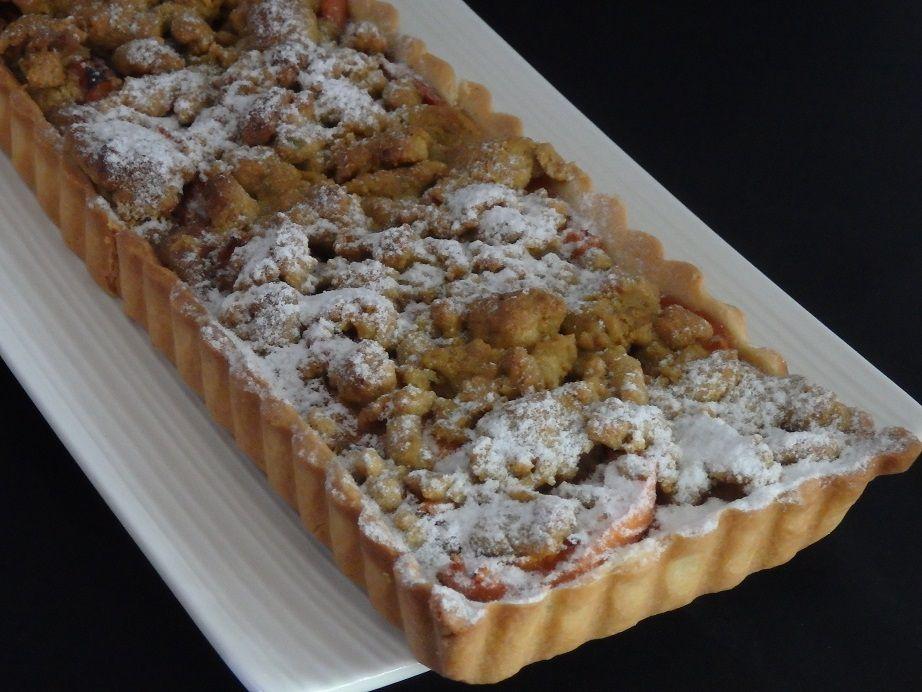 Tarte streusel abricots et pistache