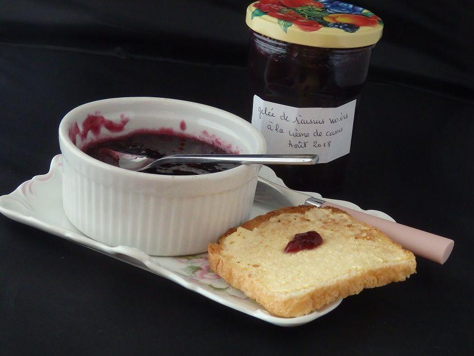 Gelée de raisins noirs à la crème de cassis