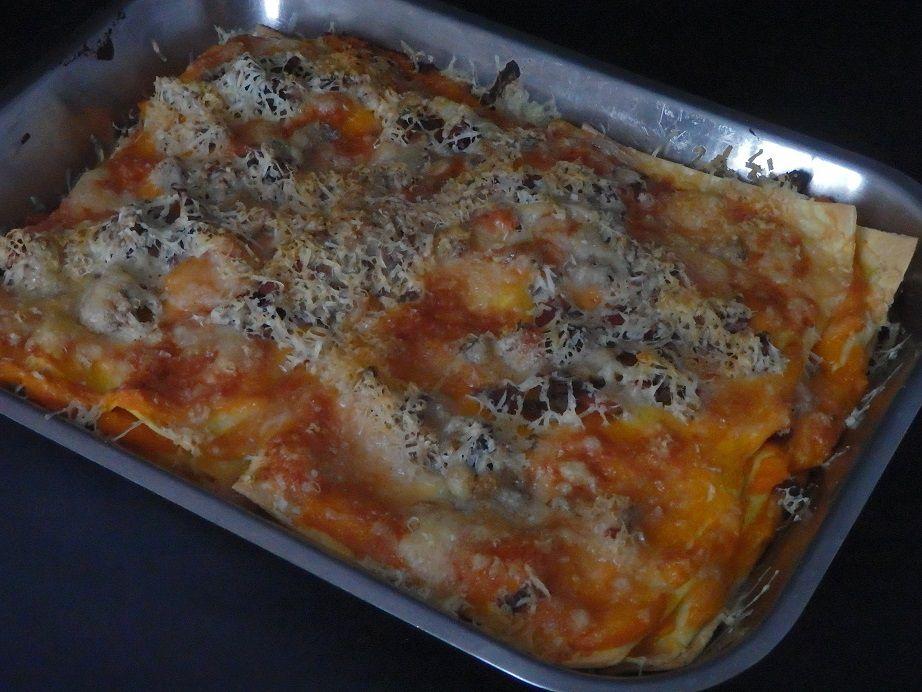 Lasagne au potiron et carottes