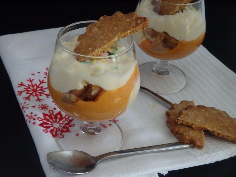 Verrines abricot et crème namelaka