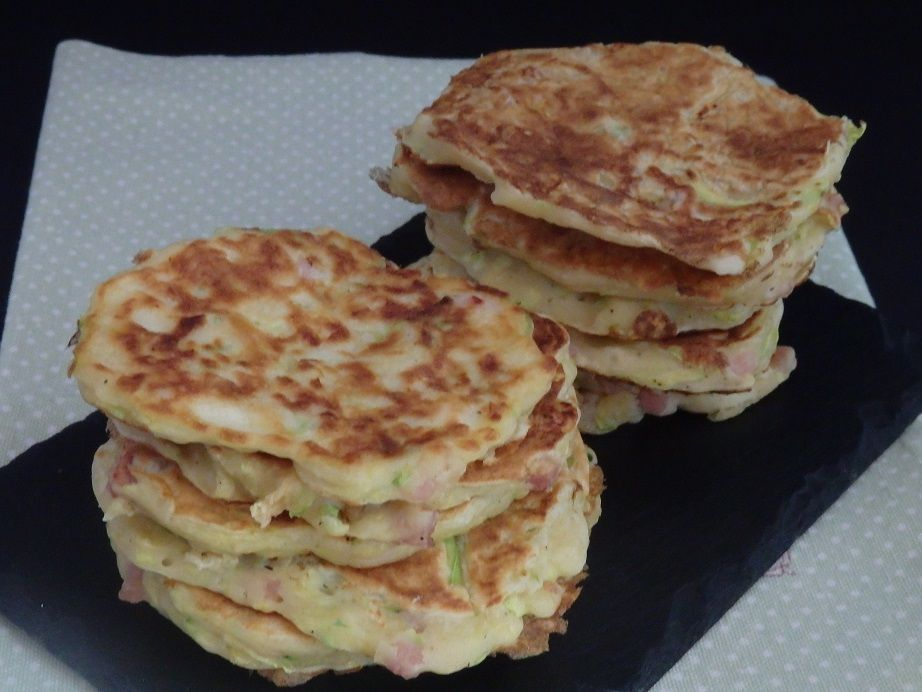 Pancakes courgette ricotta