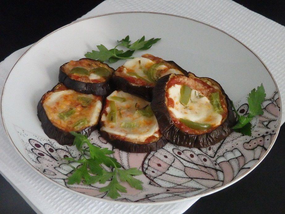 Aubergines au four, façon mini pizzas