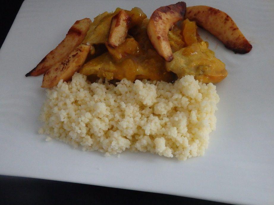 Tajine de poulet au coing et au miel