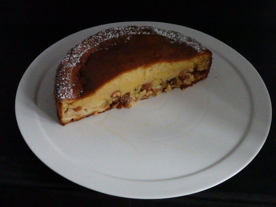 Gâteau moelleux aux pommes et cacahuètes
