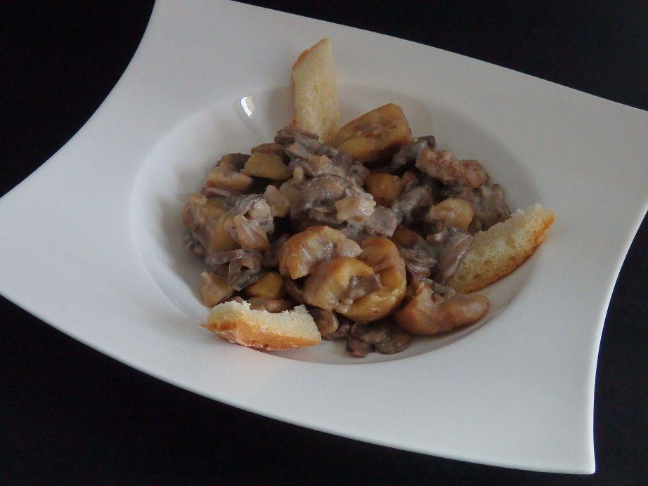 Poêlée de châtaignes et champignons