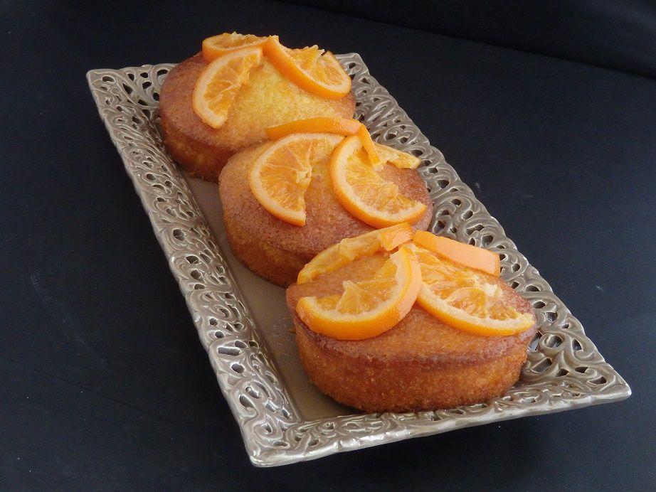 Gâteaux à l'huile d'olive et oranges sanguines