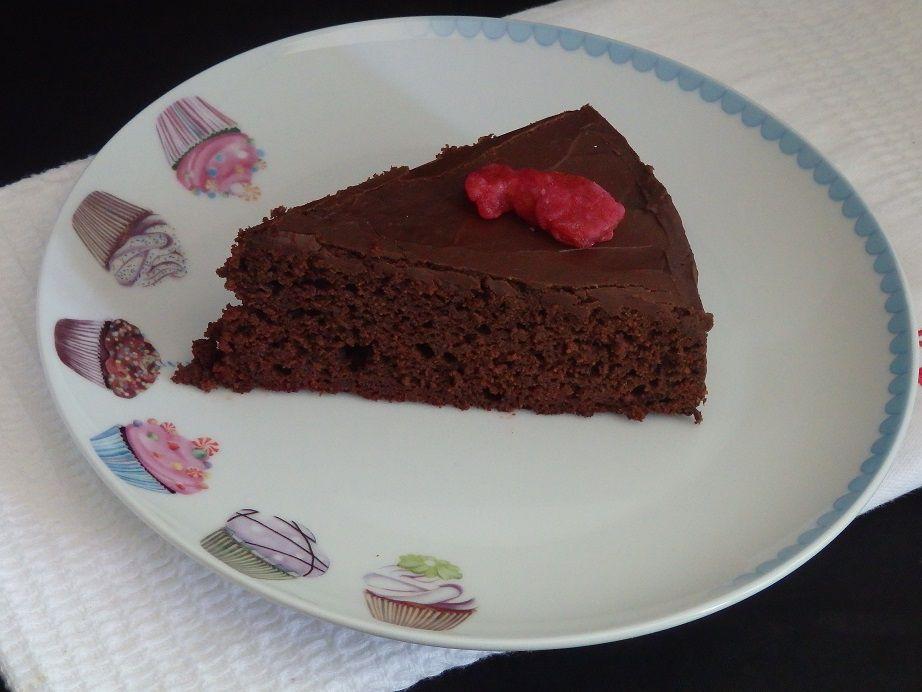 Gâteau au chocolat et à la betterave, nappage au chocolat