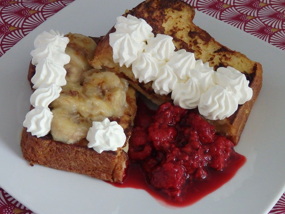 Brioche perdue aux fruits, chantilly au mascarpone