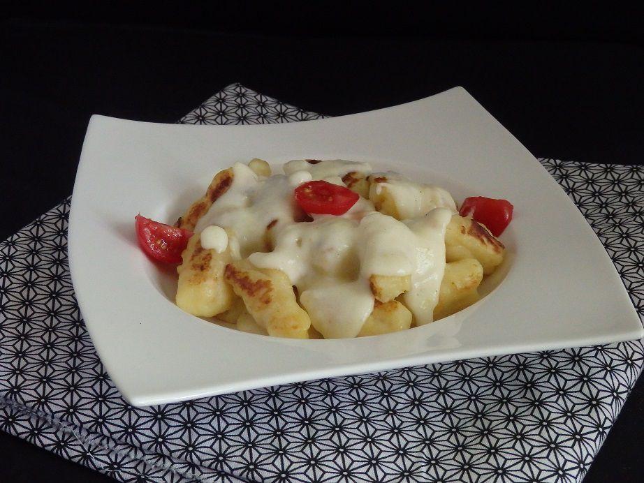 Gnocchi maison avec sa crème d'ail