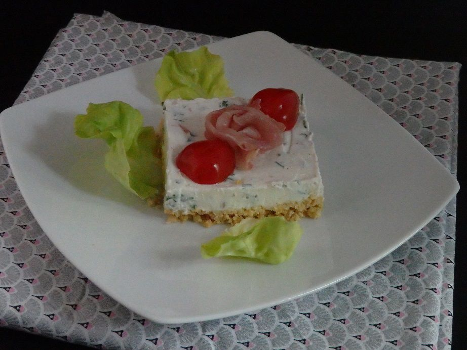 Cheesecake sans cuisson au jambon