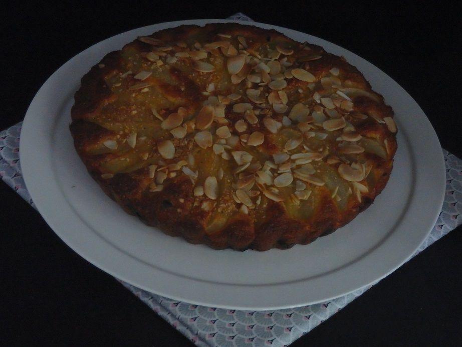 Gâteau aux poires et cassis
