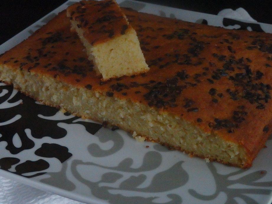 Gâteau madeleine à couper