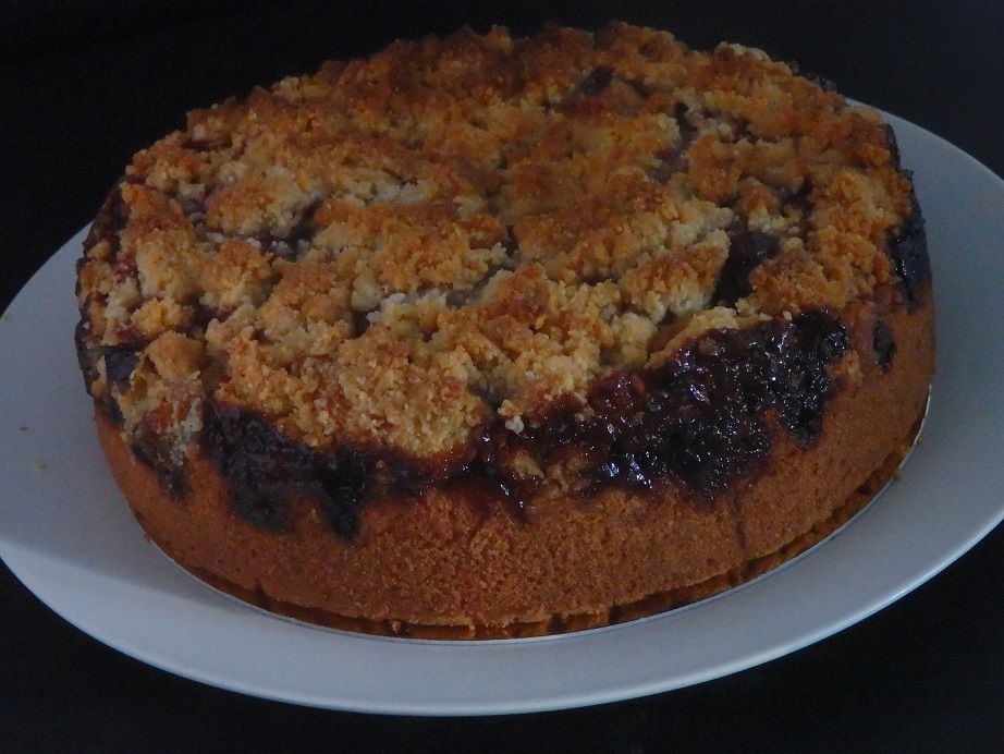 Coffee cake au cassis
