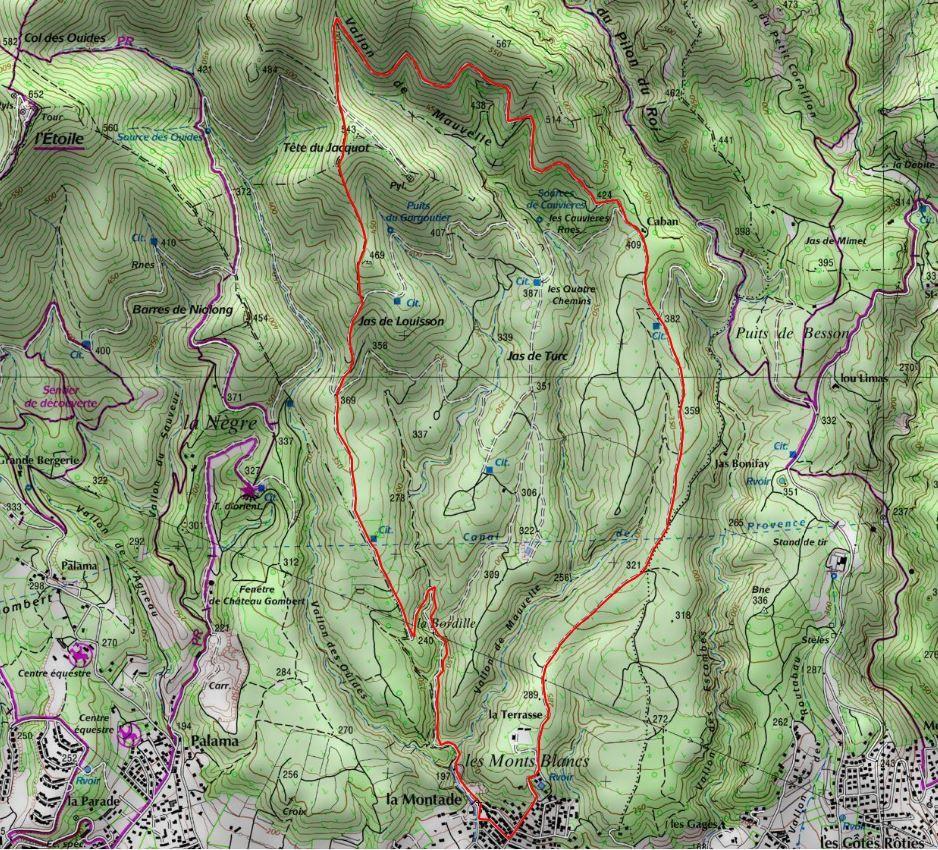 RANDO du 26/03 Massif de L'Etoile -Plan de Cuques-Tête de Jacquot