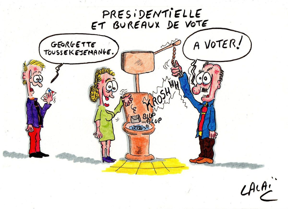 bureaux de vote election presidentielle dessin de presse un dessin par jour c 39 est de l 39 humour. Black Bedroom Furniture Sets. Home Design Ideas