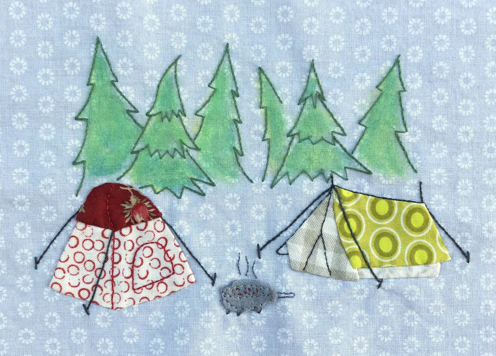 Camping sauvage. Attention aux ours !