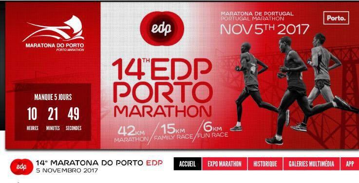 2 bleus sur le 15km du Marathon de Porto.
