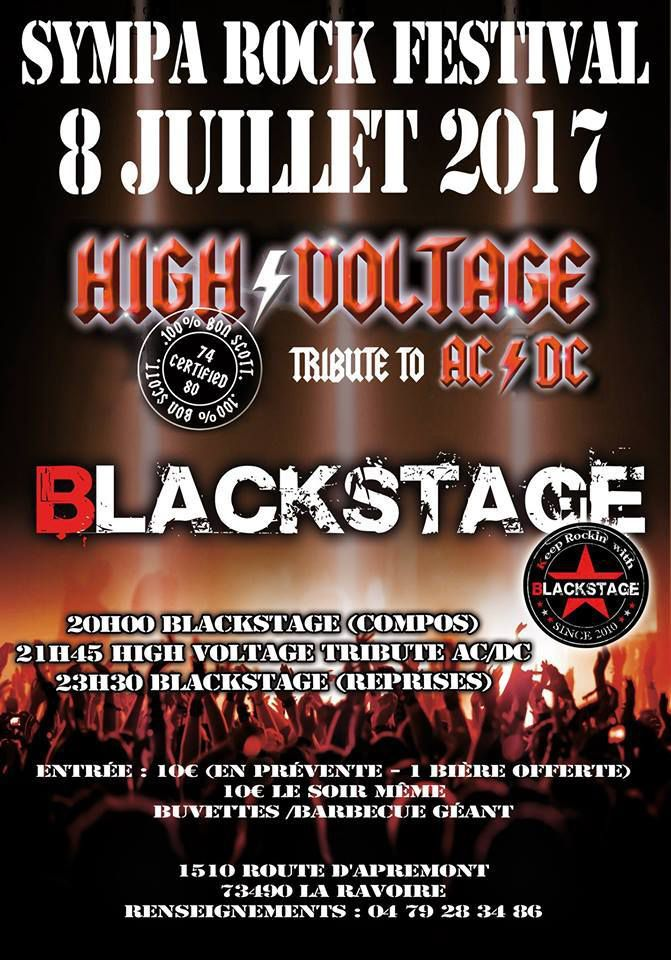 SYMPA ROCK FESTIVAL 1ère Edition le Samedi 8 juillet 2017