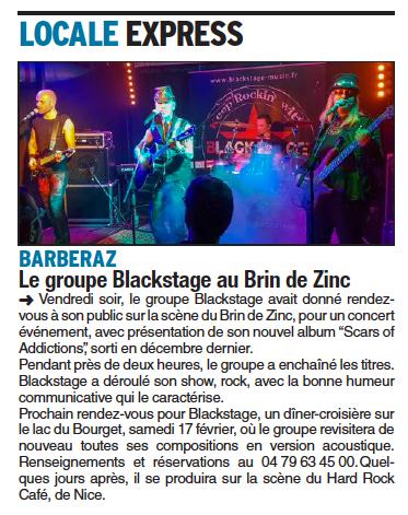 Article dans le Dauphiné du 30/01/2018