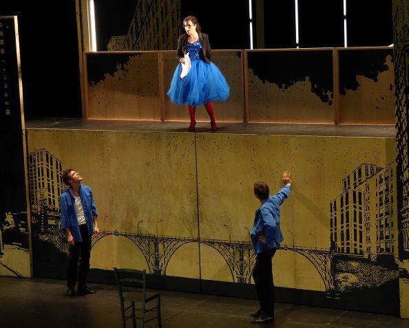 Matthieu Dessertine (Orlando), Laure Calamy (Ambre) et François Michonneau (Gaspard)