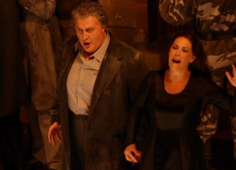 George Gagnidze (Amonasro) et Sondra Radvanovsky (Aida)