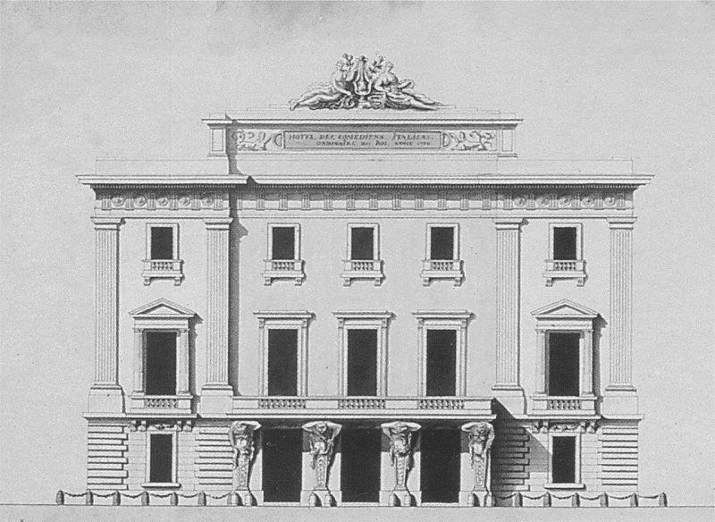 L'Hotel de Bourgogne au XVIIIème siècle.