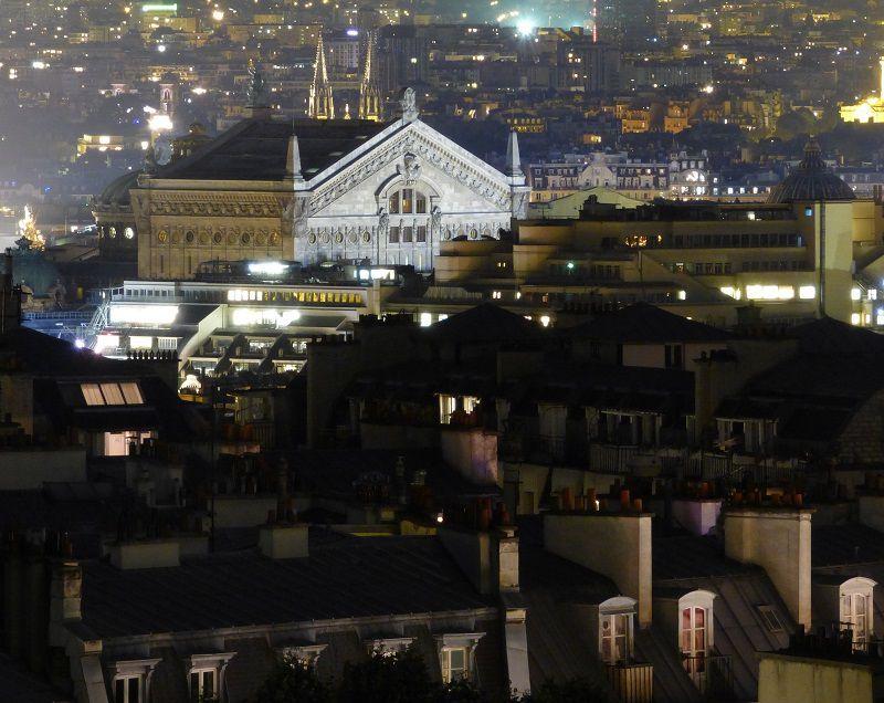 Le Palais Garnier vu depuis Montmartre.